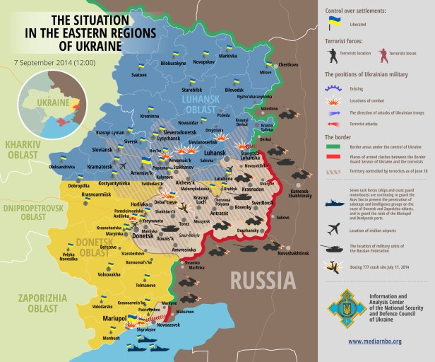 Ukraine ATO map September 7