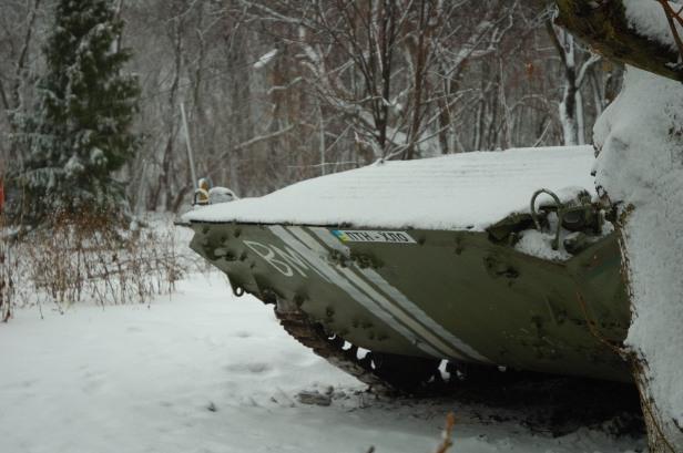 Ukraine war APC Debaltseve