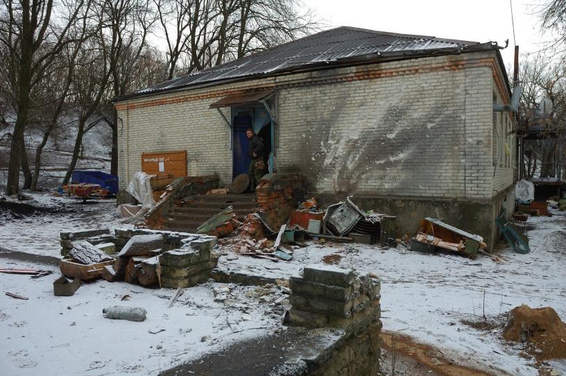 Ukraine Debaltseve shelling ruins 40 battalion