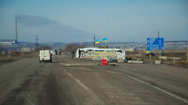 Debaltseve Artemivsk road Ukraine