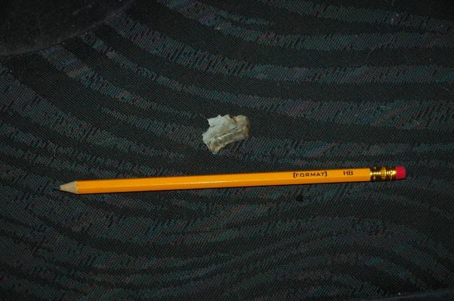 Cluster munition fragment Debaltseve