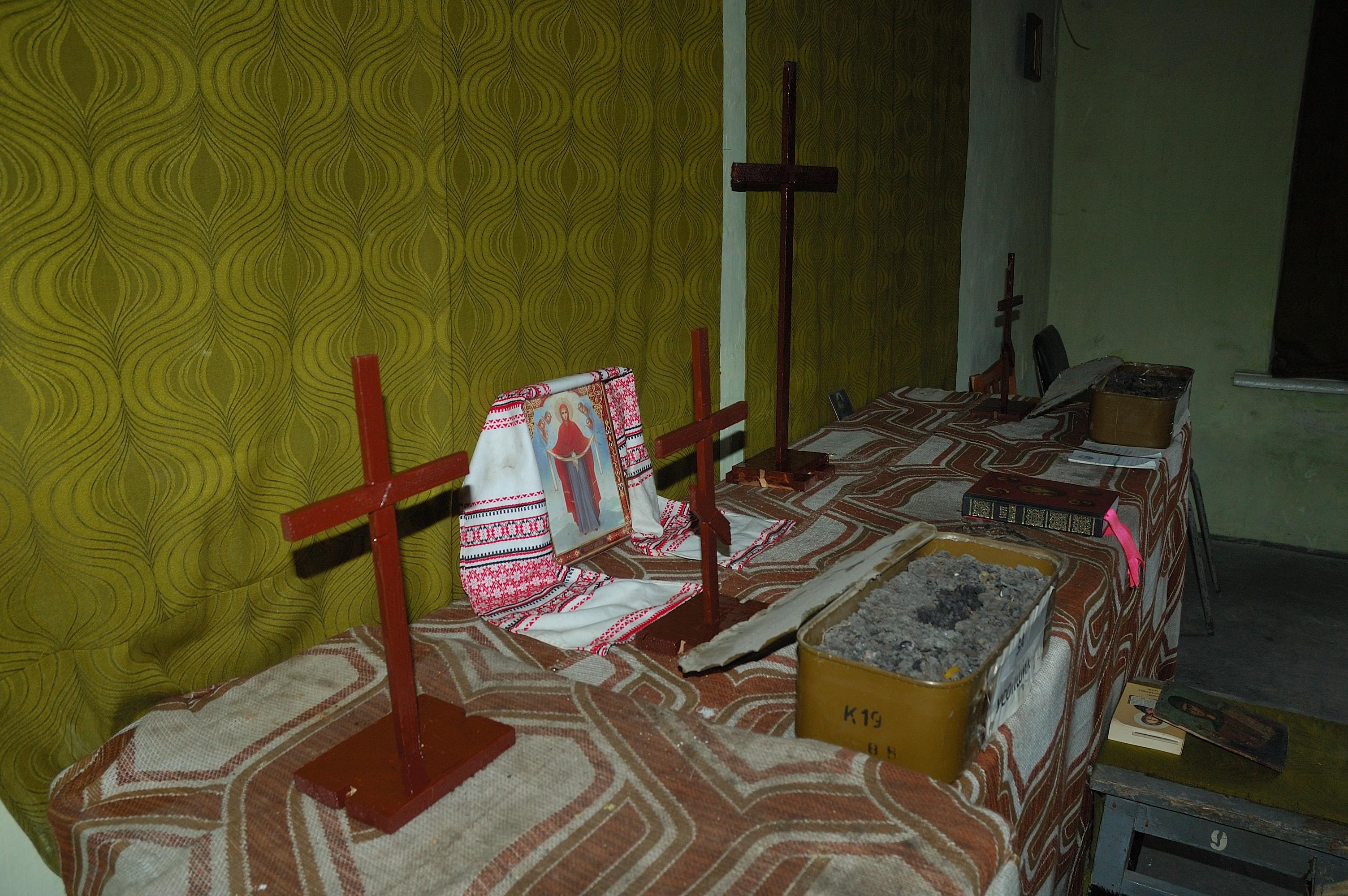 Debaltseve Ukraine army church chapel cross