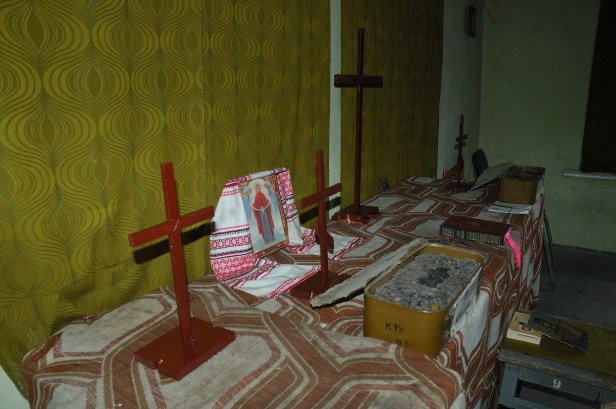Debaltseve Ukraine army church chapel cross