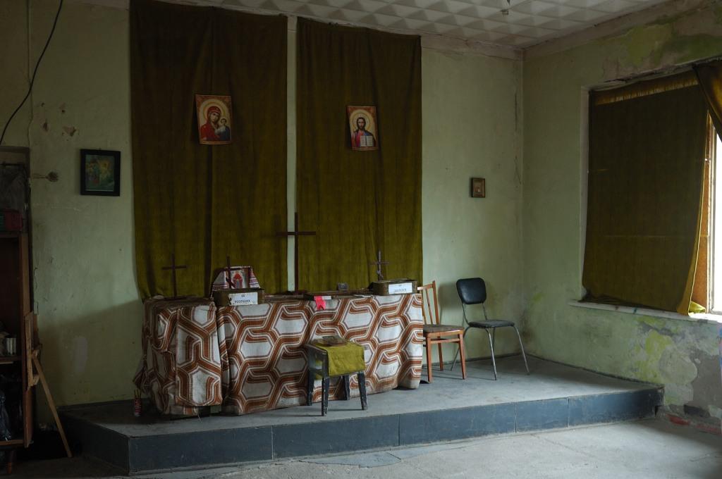 Debaltseve Ukraine army church chapel