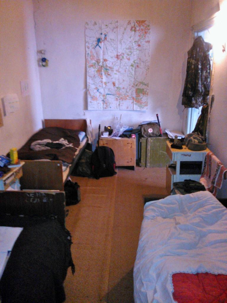 Ukraine army sleeping room Debaltseve