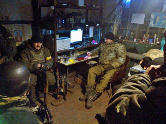 Ukraine army 40 battalion communication room