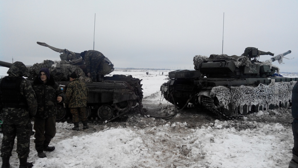 Archive photo Zenith 40 Battalion Ukraine Debaltseve