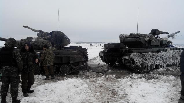 Archive photo Zenith 40 Battalion Ukraine Debaltseve