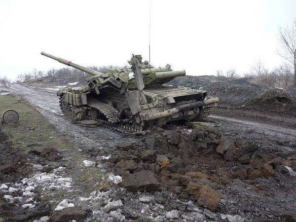 Ukraine 0army tank Debaltseve