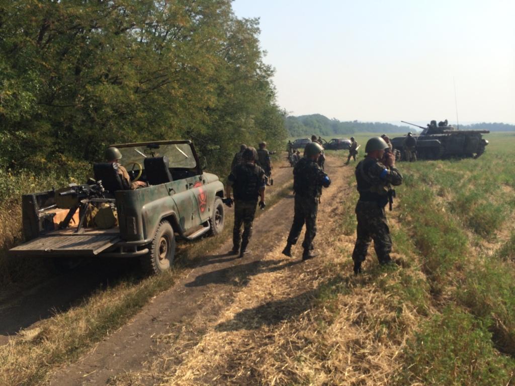 Ukraine army troops Ilovaisk