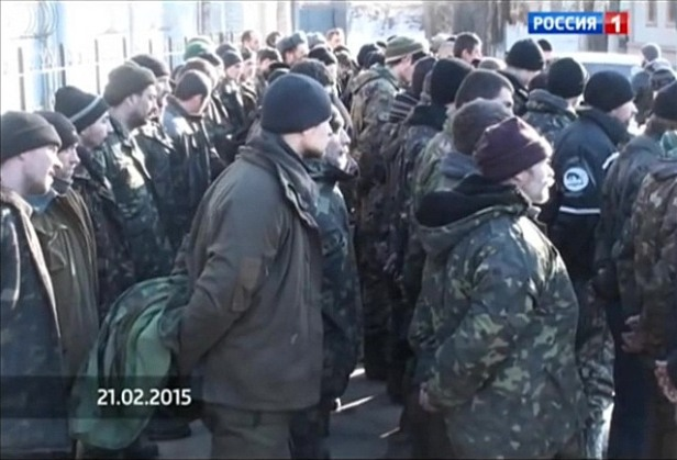 Ukrainian army POWs Debaltseve Luhansk