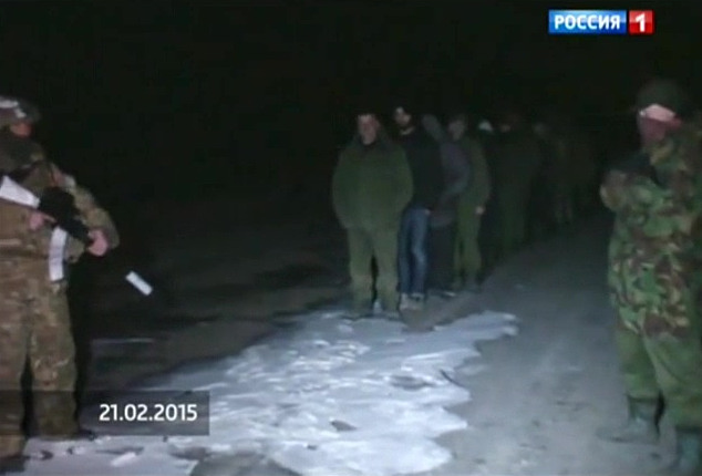 Separatist fighters POWs Luhansk