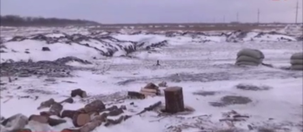 Debaltseve fields Ukraine military trenches