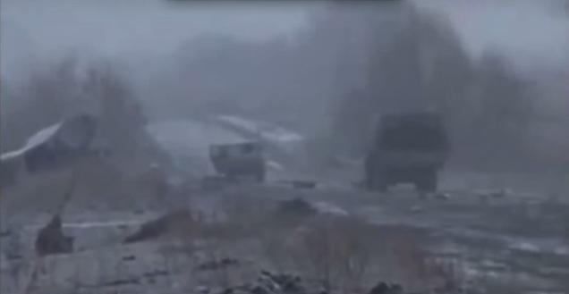 M-03 road near Lohvynove Ukraine