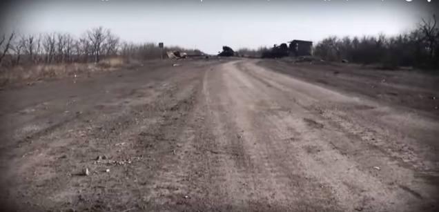 Lohvynove Donbas eastern Ukraine road