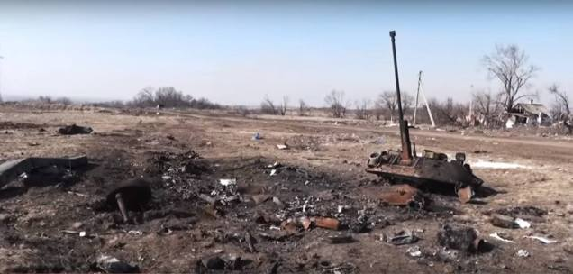 APC armor Debaltseve Donbas Lohvynove destroyed